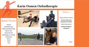 De website van Karin Oomen Oefentherapie