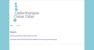 de website van Oefentherapie Cesar Gilze